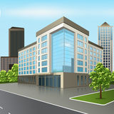 Office building with an entrance and reflection Stock Photos