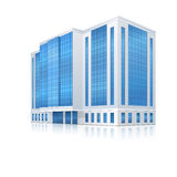 Office building with an entrance and reflection Stock Photo