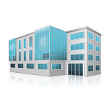 Office building with an entrance and reflection Royalty Free Stock Photos