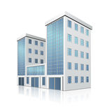 Office building with an entrance and reflection Stock Photography
