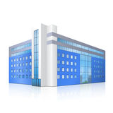 Office building with an entrance and reflection Royalty Free Stock Image