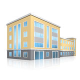 Office building with an entrance and reflection Royalty Free Stock Photo
