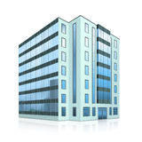 Office building with an entrance and reflection Royalty Free Stock Photography