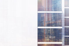 Office building exterior, white wall, toned Royalty Free Stock Photography