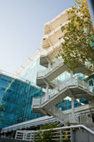 Office building with external stairs Stock Images