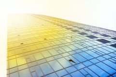 Office building. Facade of the office building in a modern city Royalty Free Stock Images