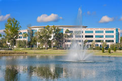 Office Building with fountain Royalty Free Stock Images