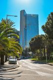 Office building of Gas Natural fenosa. BARCELONA, SPAIN - APRIL 10, 2017: Office building of Gas Natural fenosa is a Spanish natural gas utilities company. The Royalty Free Stock Photos