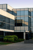 Office building in glass. A modern 3 storey glass office building Royalty Free Stock Photo