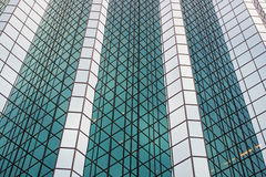 Office building. Glass office business building in day Royalty Free Stock Images