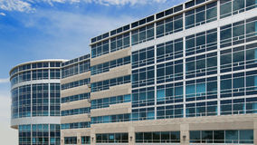 Office building in glass and concrete. Modern office building in glass and concrete Royalty Free Stock Photography