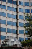 Office Building with Glass Dome Entrance, Portland, Oregon. This is an office building with a glass-domed entrance  in downtown Portland, Oregon Stock Image
