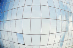 Office building. Glass facade of an office building in a spherical shape stock photo