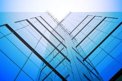 Office building. Glass structure, office building Royalty Free Stock Photography