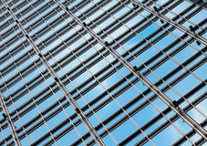 Office building glass wall Royalty Free Stock Image