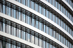 Office building. With glass walls, detail Royalty Free Stock Photos