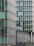 Office building green rectangle windows. Office building architecture at Sandtorpark hamburg Royalty Free Stock Image