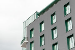 Office building with green windows Royalty Free Stock Photography
