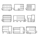 Office building icons Stock Image