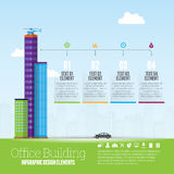 Office Building Infographic Stock Photo