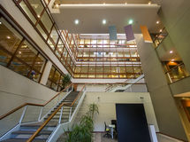 Office building interior. With stairs leading to above floors Royalty Free Stock Photography