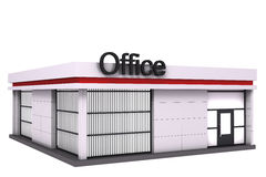 The office building. Isolated on white background Royalty Free Stock Photography