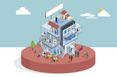 Office Building In Isometric View Royalty Free Stock Images