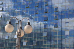 Office building and lamps Royalty Free Stock Images