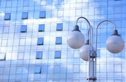 Office building and lamps Stock Photo