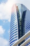 Office building with landmark at sky. Office building with landmark of thailand at sky Stock Images