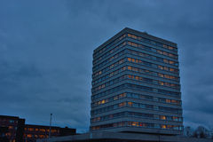 Office building in the late evening Royalty Free Stock Photo