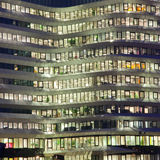 Office Building Lights Stock Images