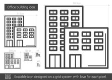 Office building line icon. Royalty Free Stock Photos