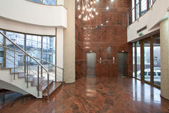 Office building lobby Stock Images