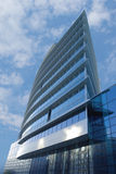 Office building - low angle. Exterior of skyscraper office building - World Trade Center in Nizhny Novgorod  - low angle Stock Photos