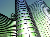 Office building made from glass and steel Stock Images