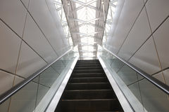 Office building modern style escalator. The office building modern style escalator Stock Image