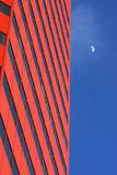 office building and the moon Stock Photography