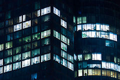 Office Building at Night Royalty Free Stock Photography