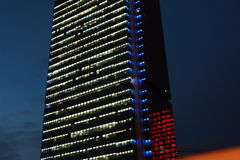 Office building at night. In shenyang city China Stock Images