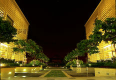 Office building at night. Government office at night in Putrajaya, the administrative city of Malaysia Stock Photo
