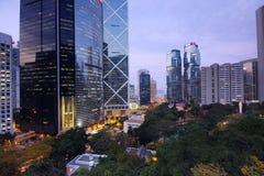 Office building at night in hong kong Royalty Free Stock Photo