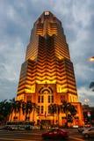 An office building at night in Kuala Lumpur, Malaysia Stock Image