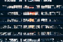Office building at night Royalty Free Stock Images