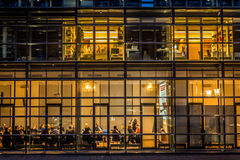 Office building at night, munich Stock Photos