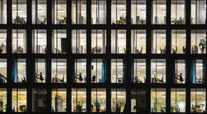 Office building at night. Windows of office building at night Royalty Free Stock Photos