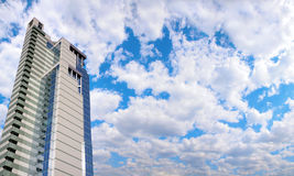 Office building and panorama of sky Royalty Free Stock Images