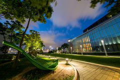 Office building and park Royalty Free Stock Image