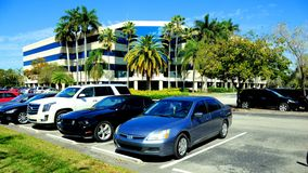 Office building and parking lot, South Florida Royalty Free Stock Image
