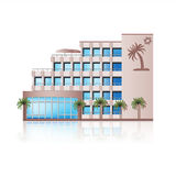 Office building with reflection and input Stock Photo